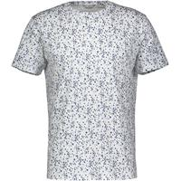 Stig Tee Blue Flower L Blue flower AOP cotton t-shirt