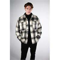 Tommen Overshirt Black check S Chunky check overshirt