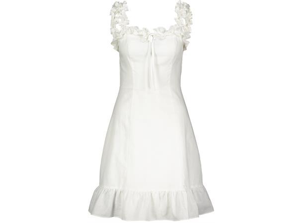 613461ec Marilyn Dress White M Short linen mix ruffle summerdress - Urban Pioneers AS