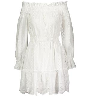 eeb04324 Chisholm Off-shoulder Dress Cotton fabric w/broderi anglaise