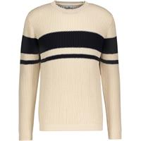 Aiden Sweater Offwhite/Navy L Organic cotton stripe knit