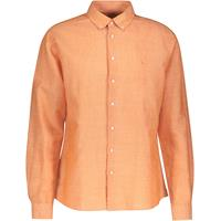 Roald Shirt Burnt Orange XXL Melange linen shirt